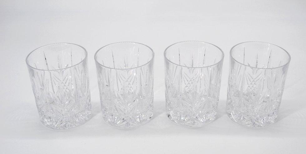 Set of 4 Crystal Tumblers