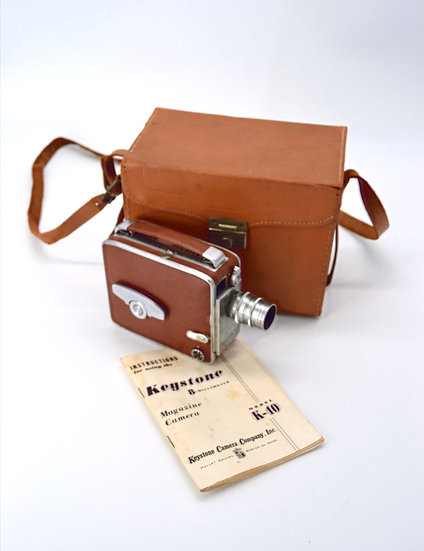Keystone 8mm Movie Camera With Case