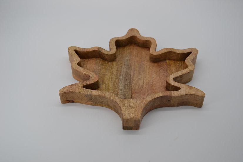 Wood Leaf Serving Tray