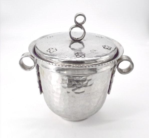Hammered Aluminum Ice Bucket