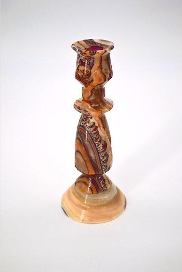 Vintage Carved Alabaster Candle Holder