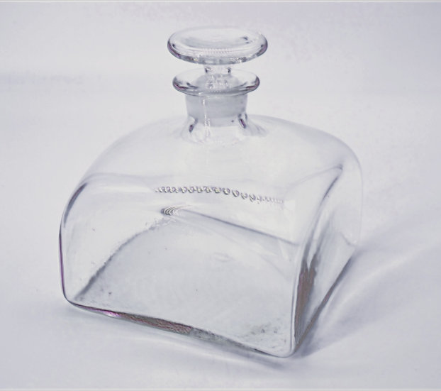 Square Glass Decanter with Stopper