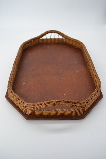 Vintage Friesland Wicker Serving Tray