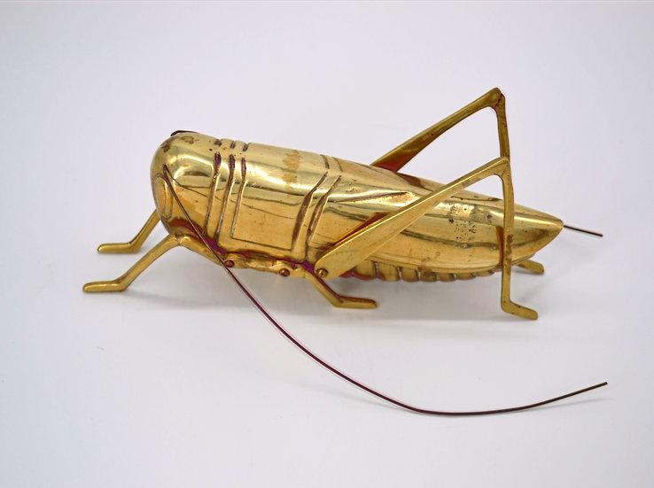 Large Lucky Brass Cricket