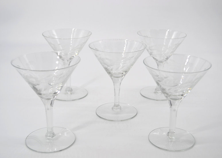 Martini Glasses Set of 5