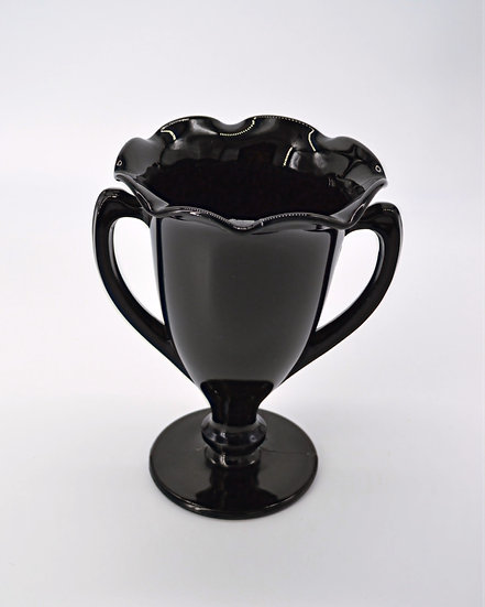 Black Glass Trophy Vase