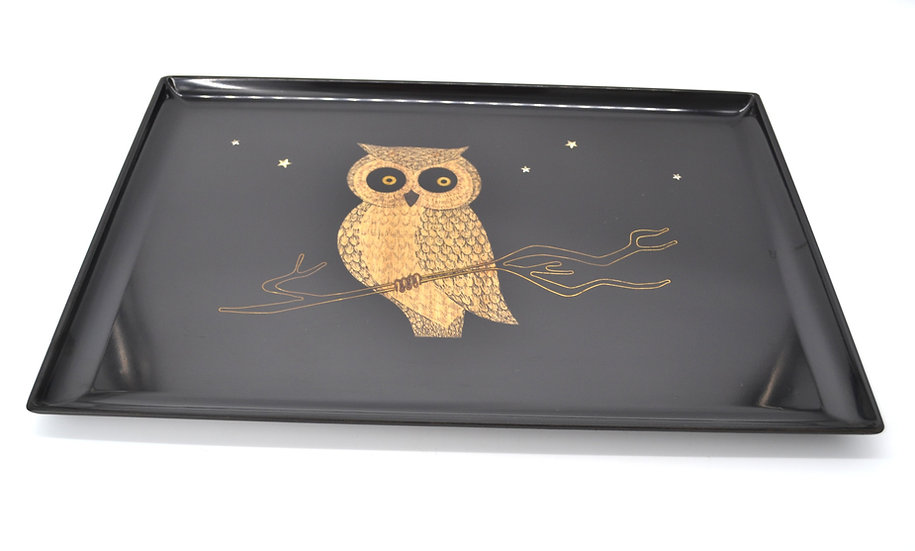 Couroc Of Monterey Owl Tray