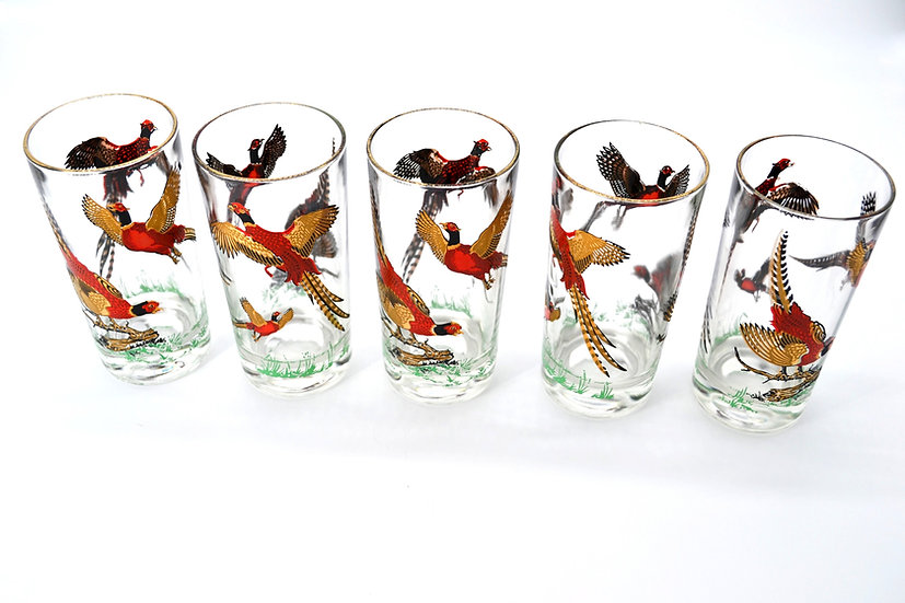 Hazel Atlas Flying Pheasants Glasses