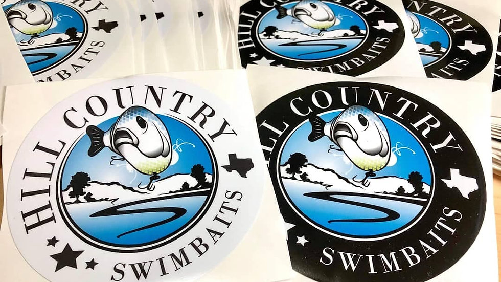Hill Country Swimbait Logo Sticker 5""