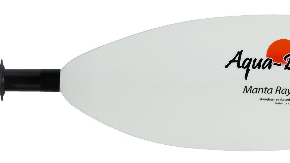 Aqua Bound Manta Ray Hybrid White Fiberglass Blade / Carbon Shaft Paddle