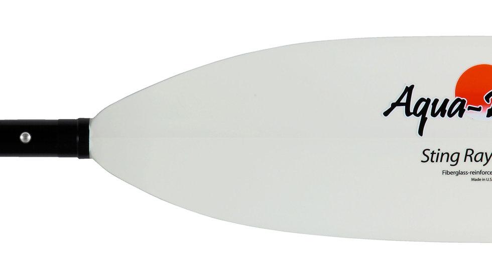 Aqua Bound Sting Ray Hybrid White Fiberglass Blade / Carbon Shaft Paddle
