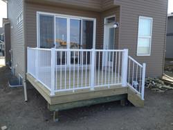 PT deck with white rail