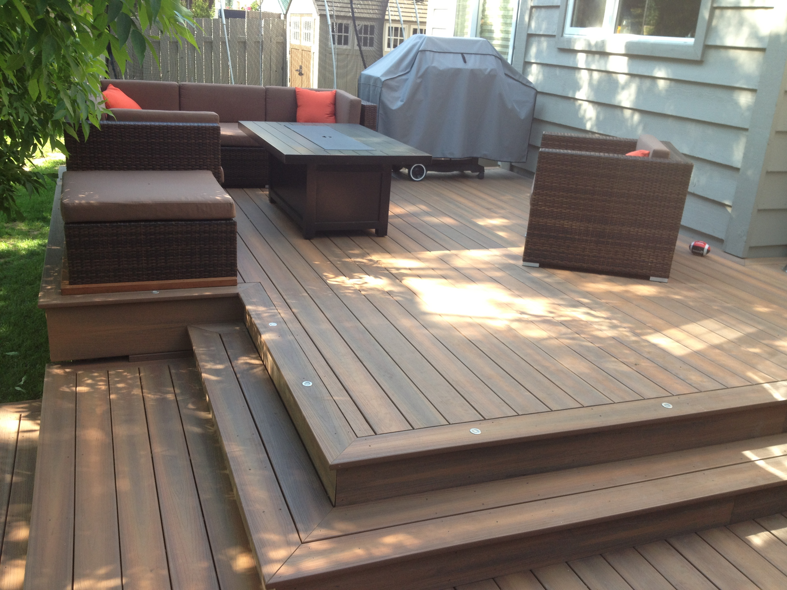 Fiberon Deck w/ furniture