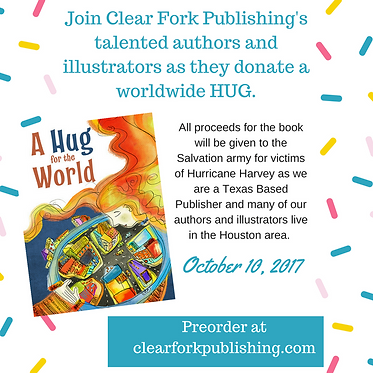 Clear Fork Hug for the world cherity book