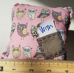 Owl wish pillow