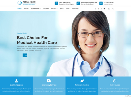 20 Top Medical & Healthcare Websites Examples