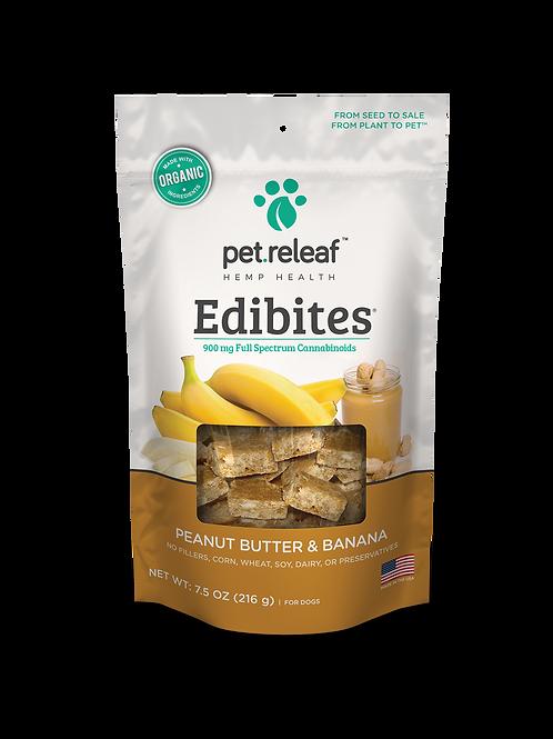 CBD Dog Treats – Hemp Oil Edibites with Peanut Butter & Banana