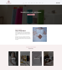dressmaker website example