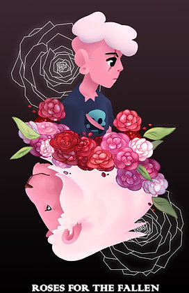 Steven Universe, Pink Lars and Lion (A3)