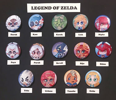 Legend of Zelda BOTW buttons