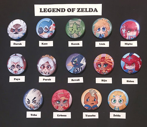 Legend of Zelda: Breath of the Wild (Button Set)