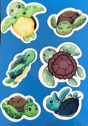 Turtles! Sticker Sheet