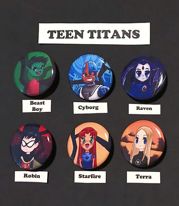 Teen Titans (Button Set)