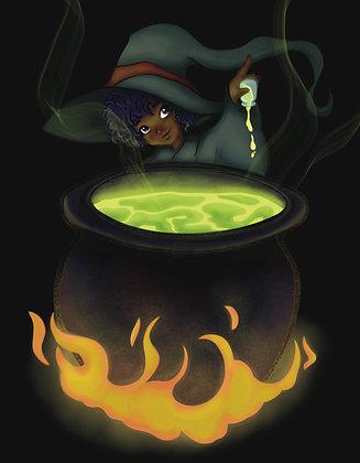 Witchtober, Day 1-Cauldron