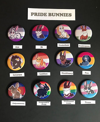 Pride Bunnies Buttons