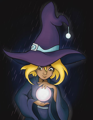 Witchtober, Day 7-Crystal Ball