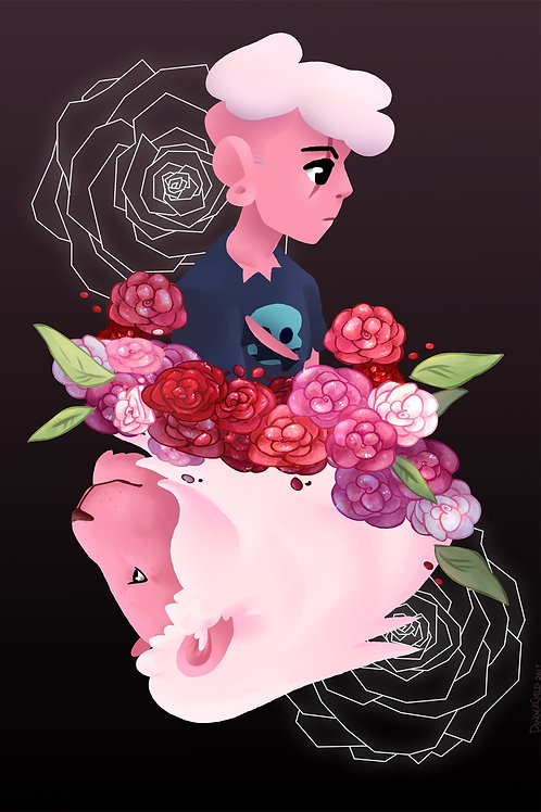 Steven Universe, Pink Lars and Lion (A6)
