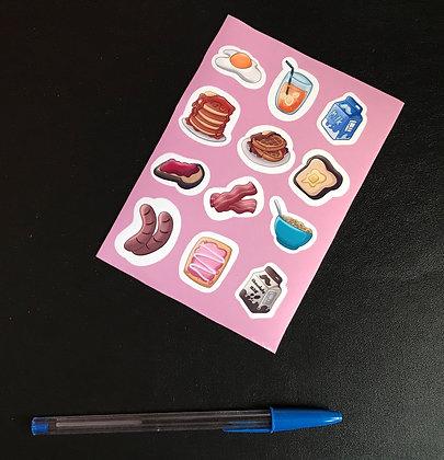 Breakfast Foods Sticker Sheet