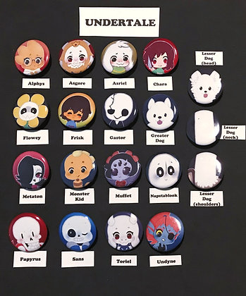 Undertale (Button Set)