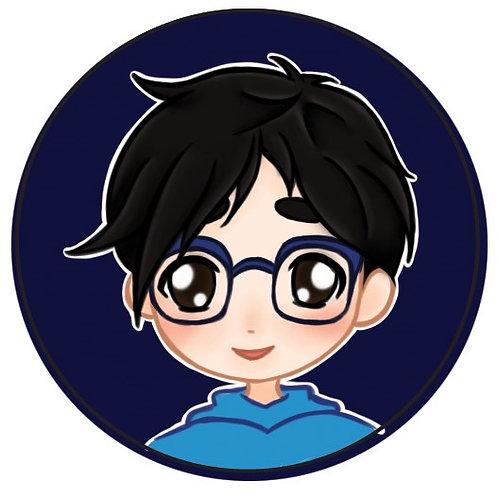 Yuri on Ice, Yuuri Katsuki (with glasses)
