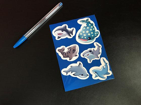 Sharks! Sticker Sheet