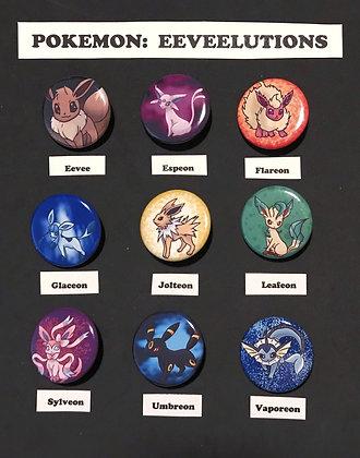 Pokemon: Eeveelution (Button Set)