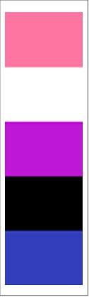 Genderfluid Pride Bookmark Front