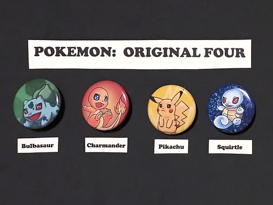 Pokemon: Original Four (Button Set)