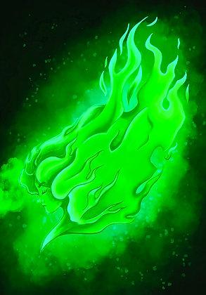 Green Flamethrower (Wallpaper/ Computer)