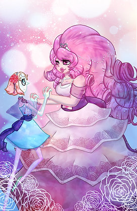 Steven Universe, Pearl and Rose Quartz (A3)