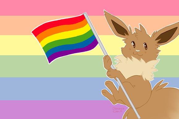 Eevee, Pride Flag (A6)