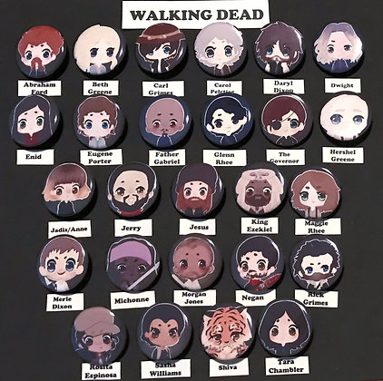 The Walking Dead, (Button Set)