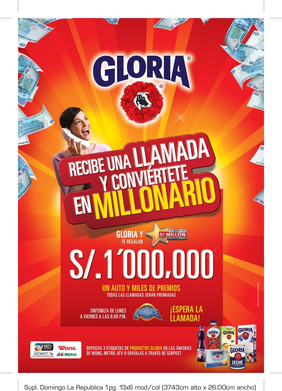 Gloria Juego del Millón Perú