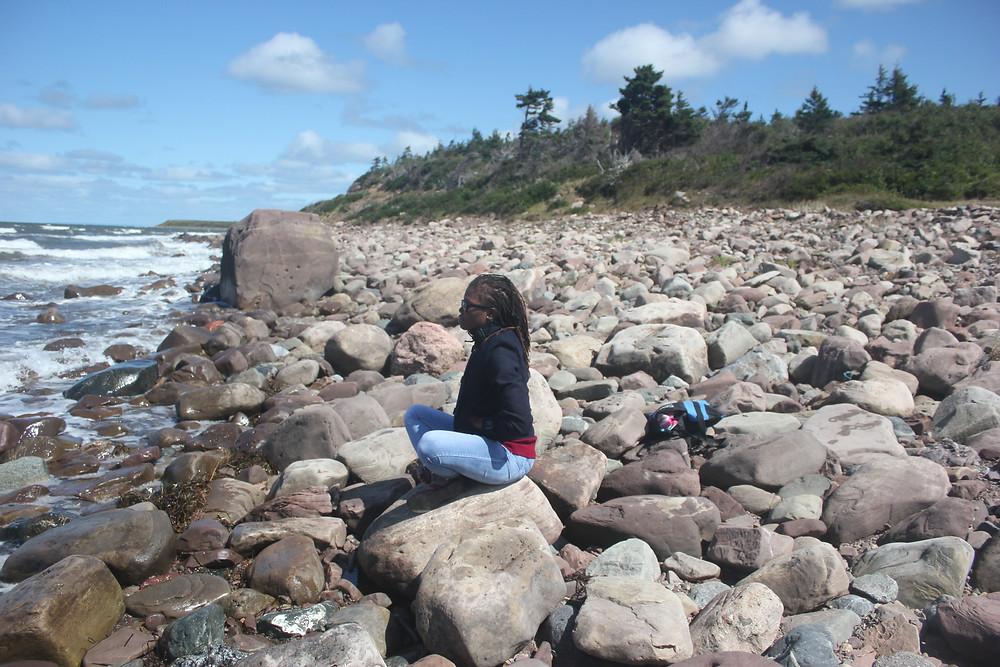 Vweta at the beach