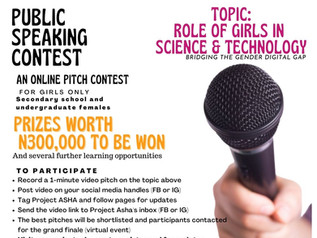 Enter The Project ASHA Virtual Pitch Contest For Girls