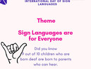 International Day for Sign Languages