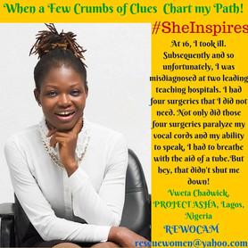 Vweta Chadwick features in  Nakinti Nofuru's #SheInsipres