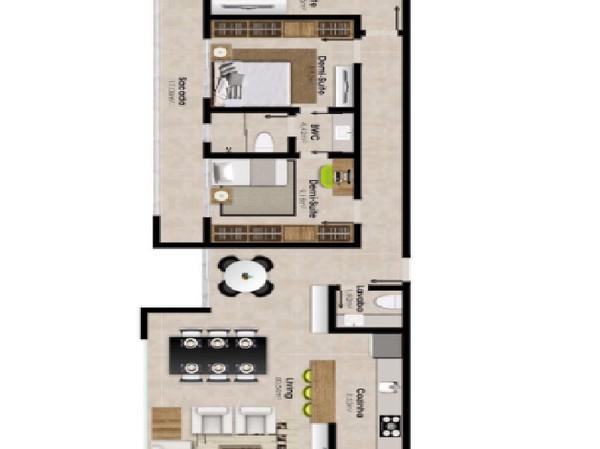 Planta Apartamento - Tipo 3