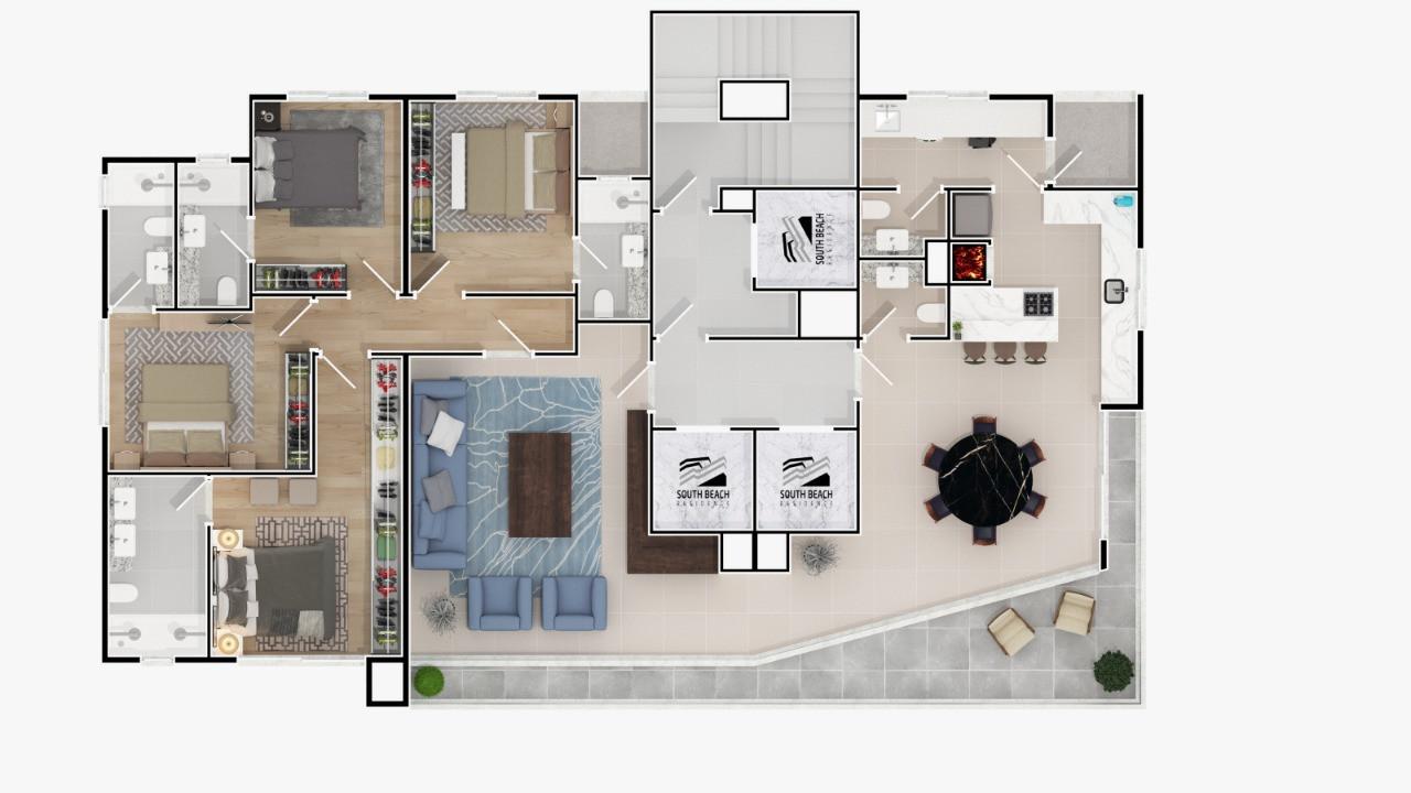 PLANTA 01 POR ANDAR - 193,54 m²