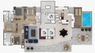 PLANTA 01 POR ANDAR - 259,86 m²
